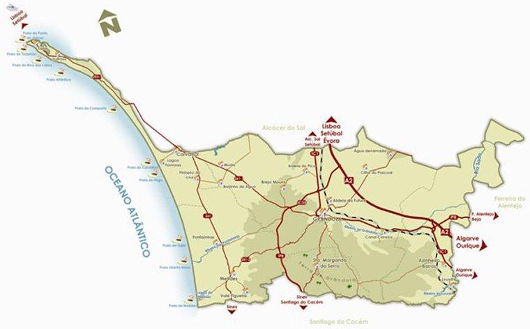 grandola mapa portugal Mapas | Grândola grandola mapa portugal